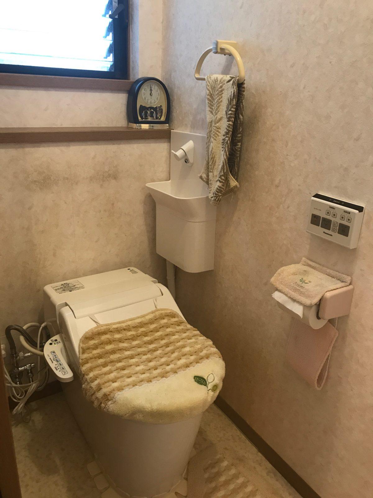 便器交換後に手洗器新設